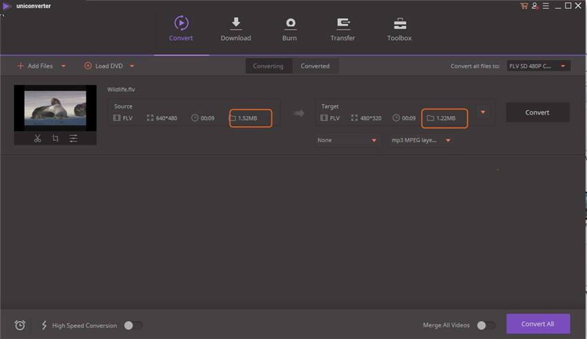 Compress FLV Files - Start to Compress