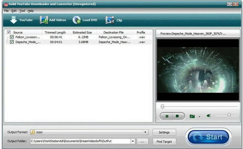 solid free YouTube MP4 converter