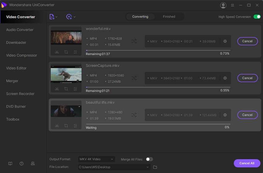 batch convert videos in different formats