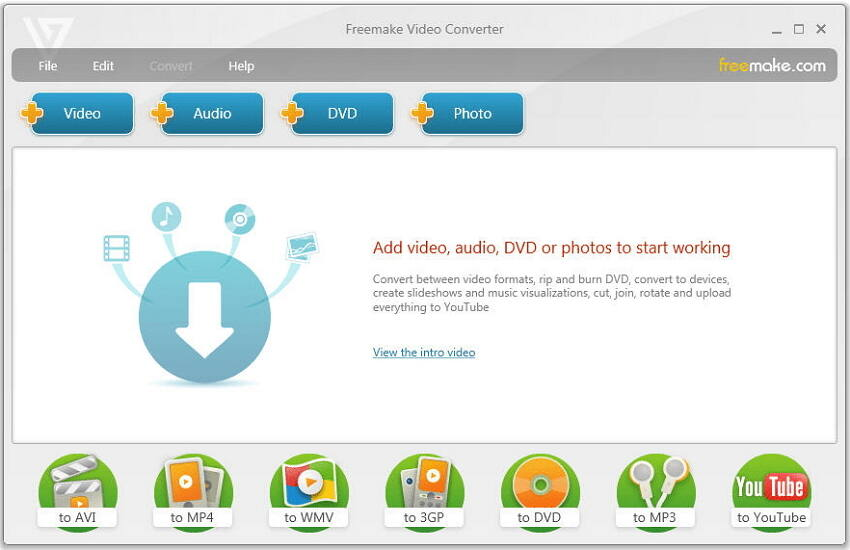 Conversor Gratuito MP4 a AVI Freemaker
