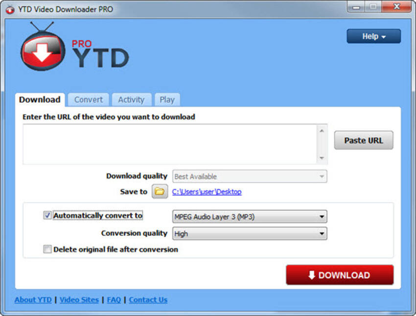 YouTube naar MP4 Converter op Windows YouTube Downloader