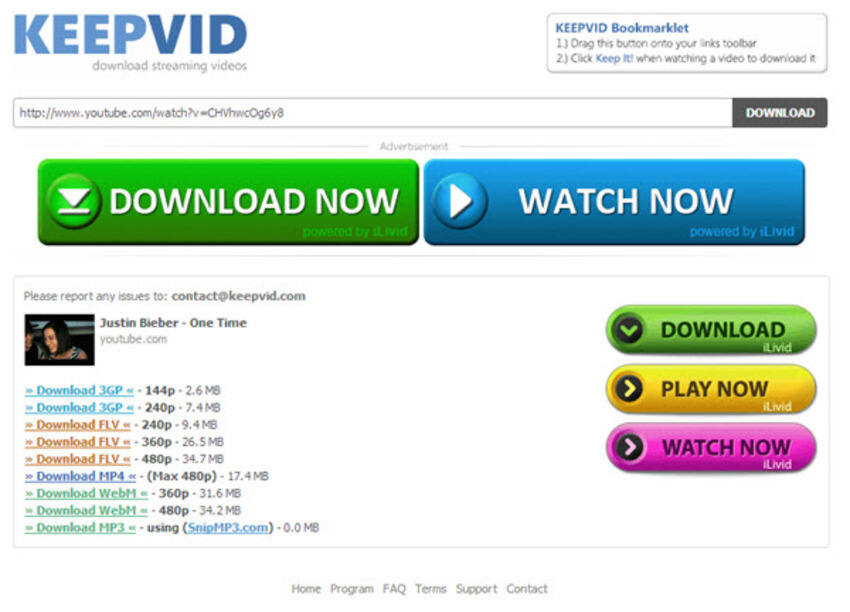 Free YouTube to MP4 Converter KeepVid