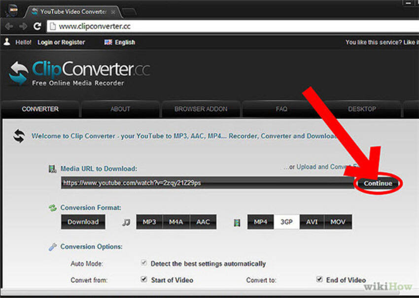 Convertitore Online da YouTube a MP4 Clip Converter