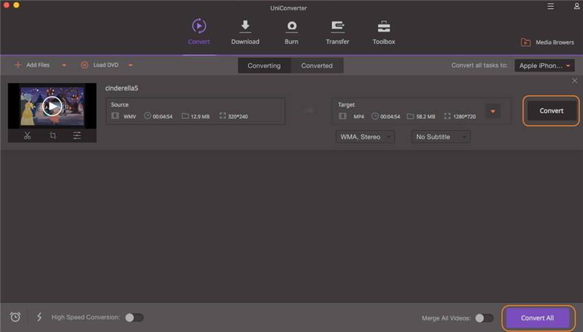 Converti WMA FIles - Inizia a Convertire File WMA