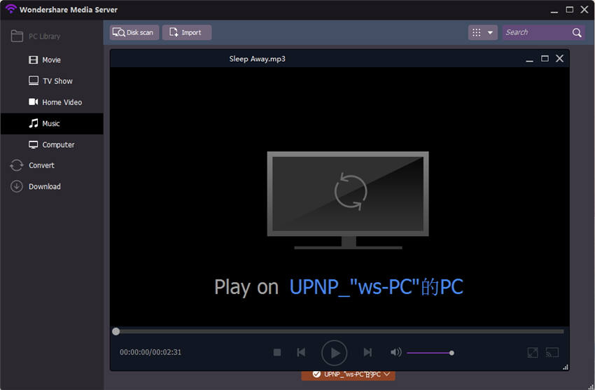 play dlna with vlc