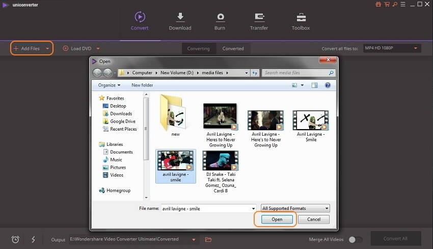 MPEG Videos hinzufügen