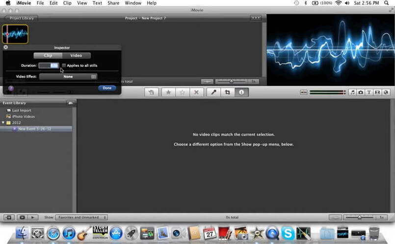 MP3 zu Video mit iMovie konvertieren -2