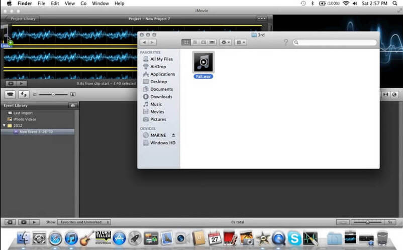 convert MP3 to video with iMovie -3