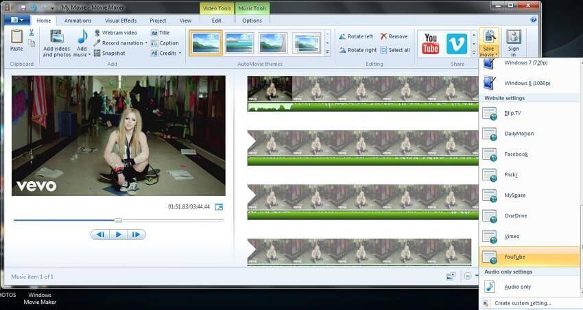 convert MP3 with Windows Movie Maker - 5
