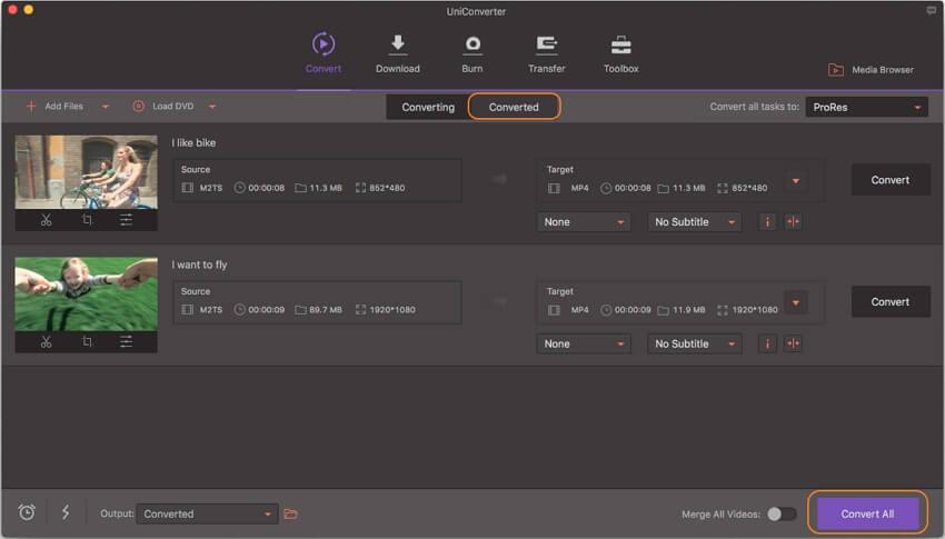 convert 4k videos for fcp mac