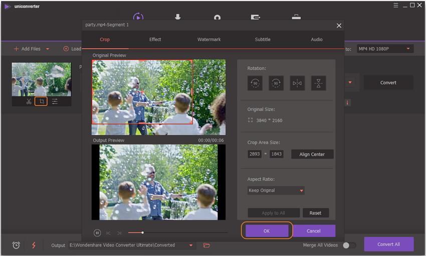 crop 4k videos