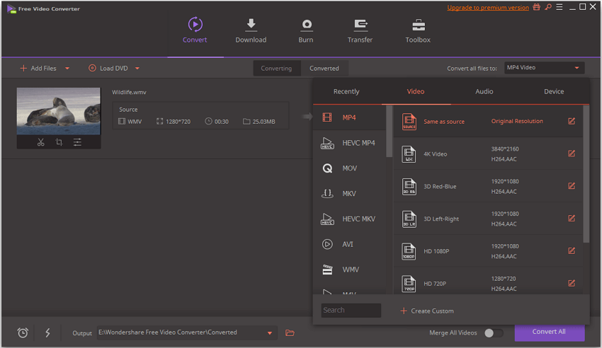 free video format converter