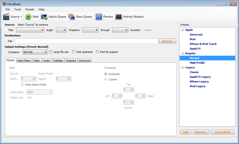 HandBrake free video to MP3 converter