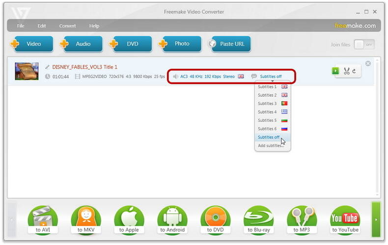 freemaker MOV video converter