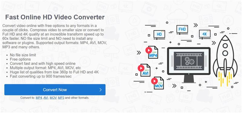 O HDconvert converte vídeos de 1080p para 720p on-line