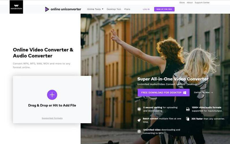 best online video converter - Online UniConverter (originally Media.io)