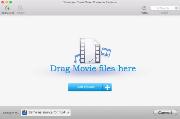 Conversor de Vídeo a iTunes Online - Tune4mac iTunes Video Converter
