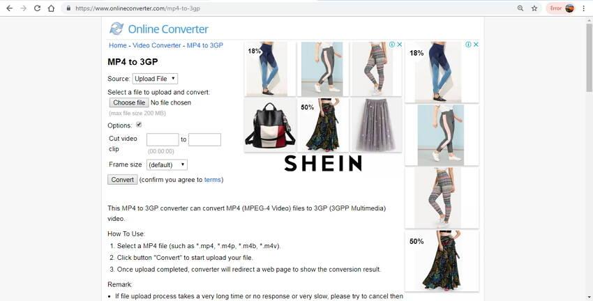 online 3GP Converter: Online Convert