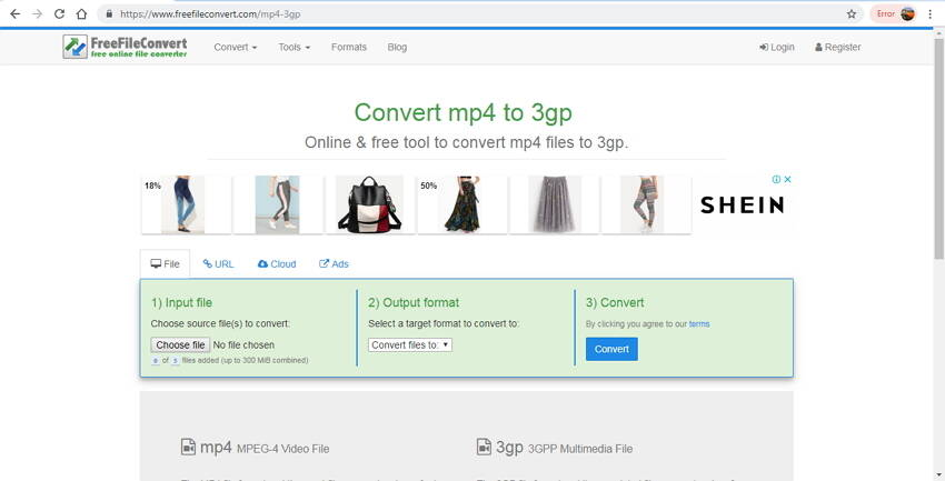 online 3GP Converter: Free File Convert