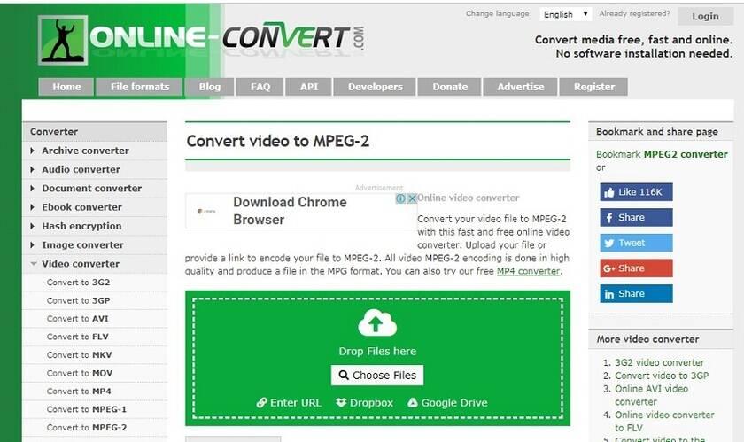 convertisseur de vidéo MPEG en ligne