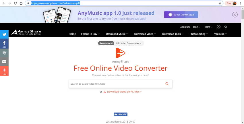 top 10 online video converter to MP3 - 7