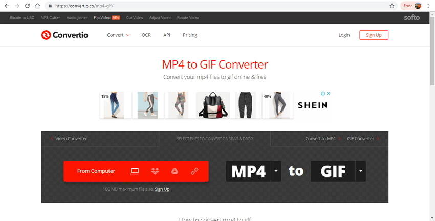 online video to GIF converter - Convertio