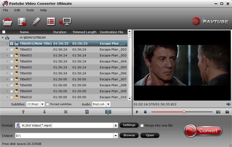 Pavtube Video Converter for Windows a 1080p to 720p video converter