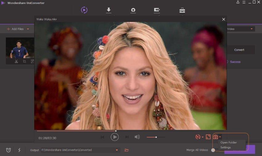 customize video to JPG settings