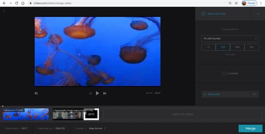 youtube merge vidoes