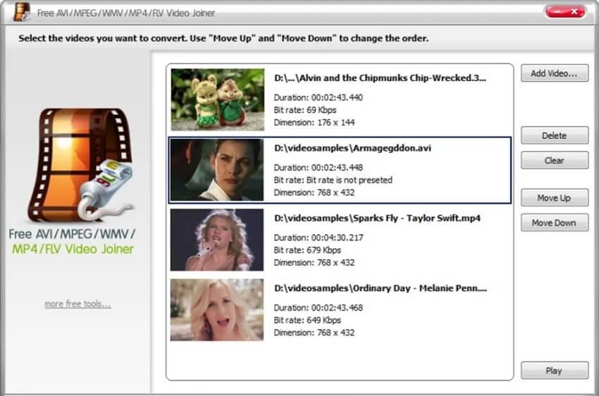 free wmv merger - Free AVI MP4 WMV MPEG Video Joiner
