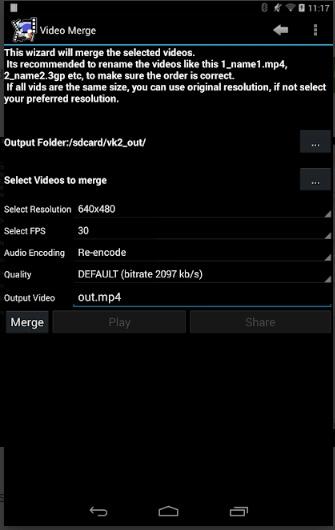 merge movies android video merge