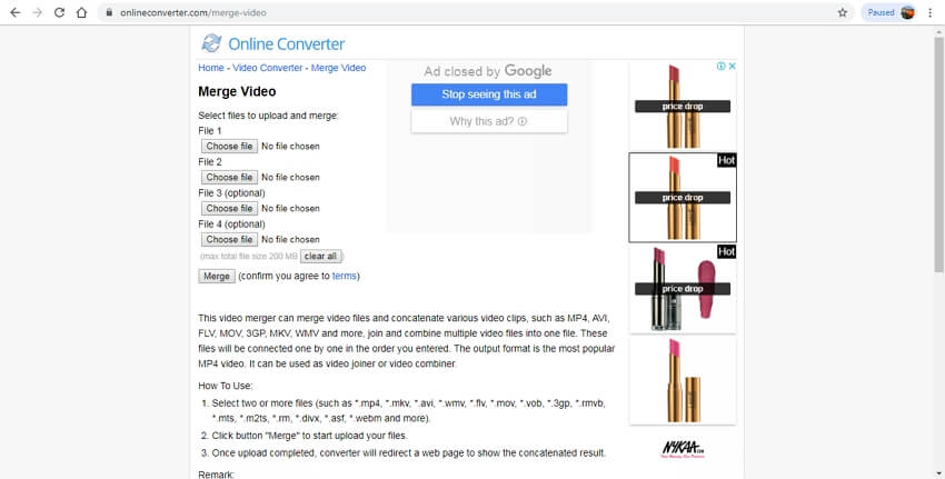 Merge MP4 Online - Online Converter
