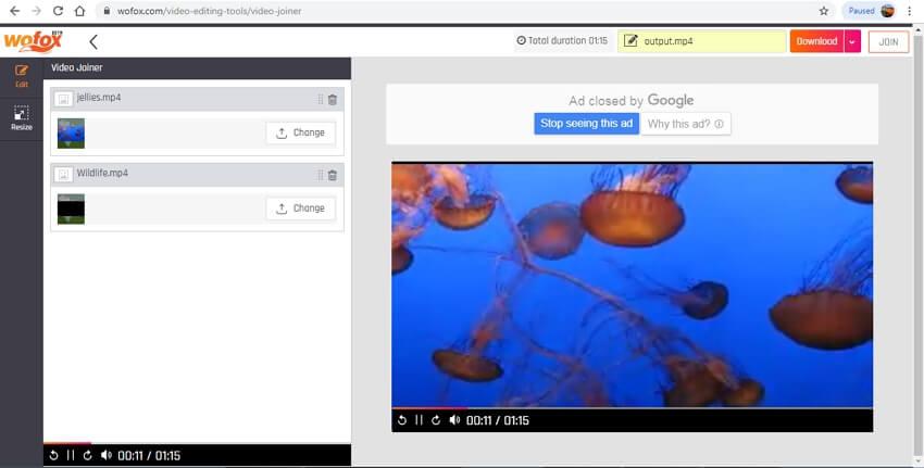 video merger online - Wofox