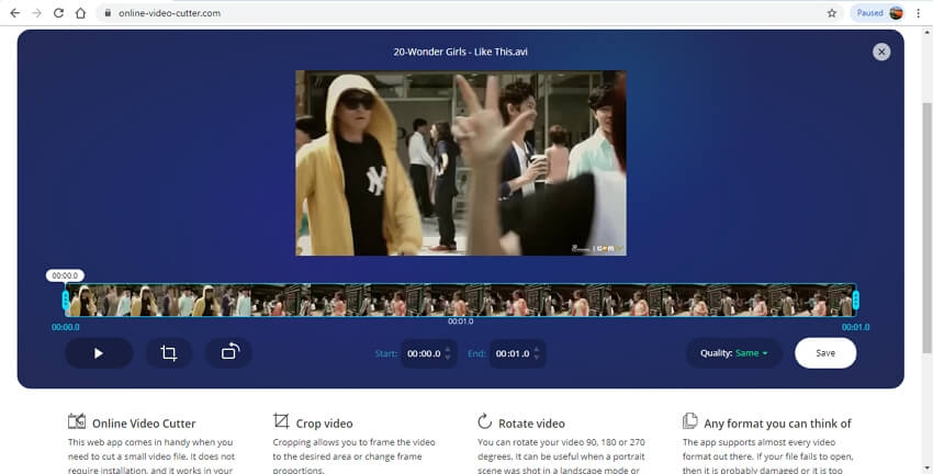 video merger online - Online Video Cutter