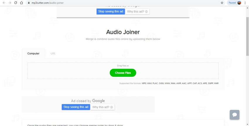 online audio joiner - MP3Cutter