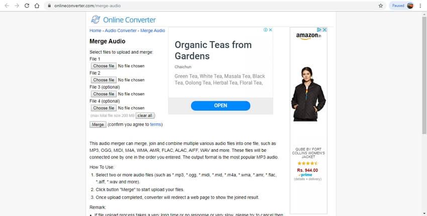 online audio joiner - Online Converter