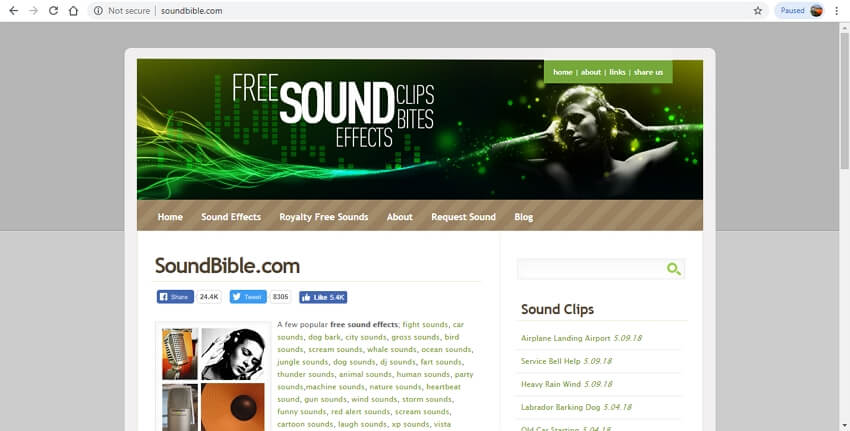 10 sound effects sites - Free Sounds Library