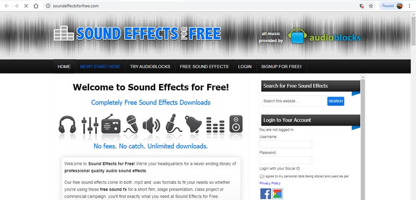 10 sound effects sites - Sound Effects for Free