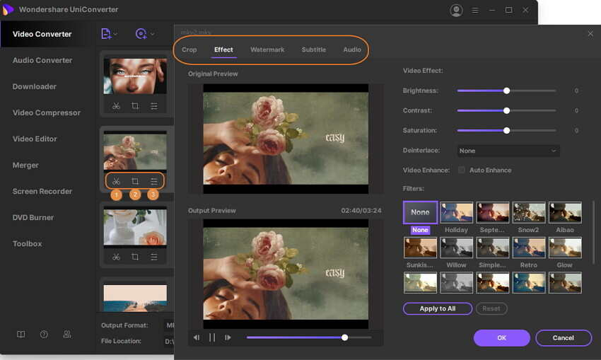 edit video and audio files