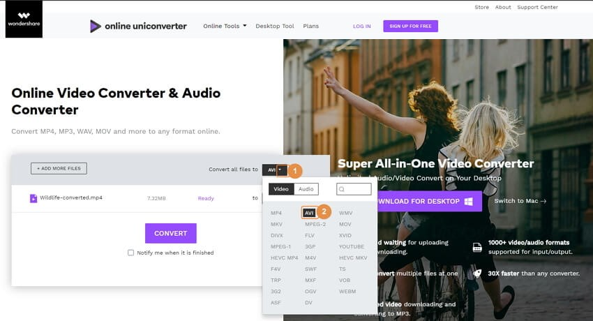 launch vimeo online converter