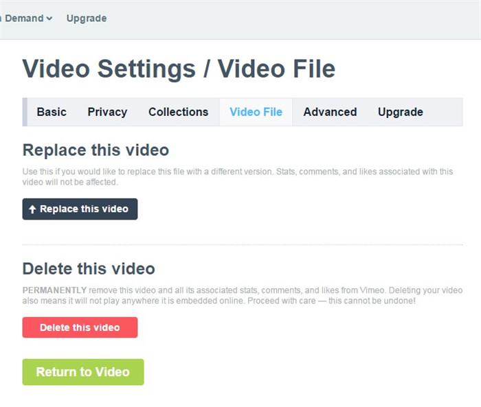 vimeo video editing