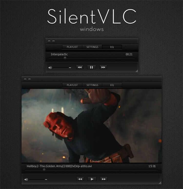 vlc skin-silent