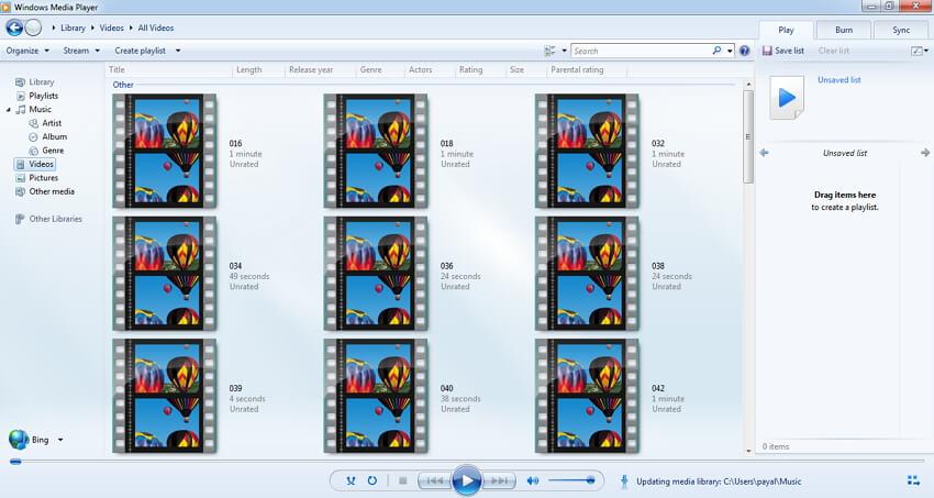 قم بتشغيل ملفات VOB باستخدام Windows Media Player