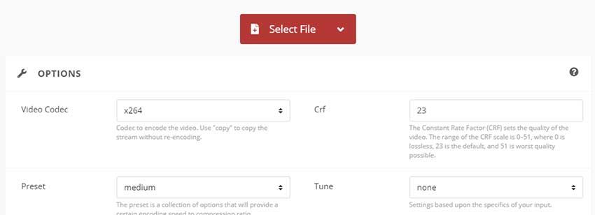 CloudConvert convierte a MP4 online