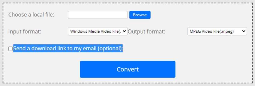 ConvertFiles para convertir WMV a MP4