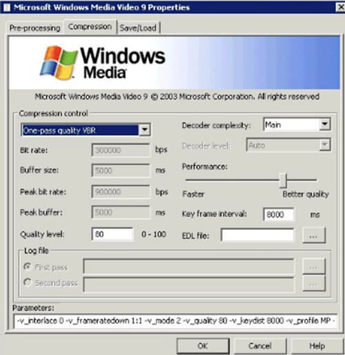 windows media video 9 vcm