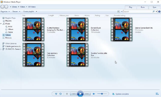 wmv player-windows media player