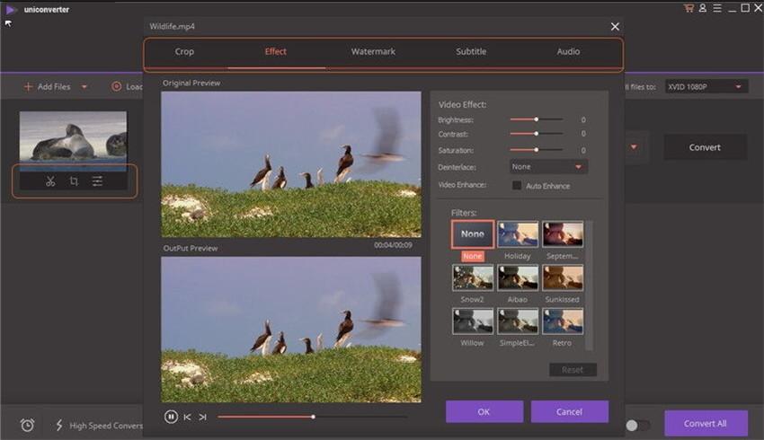 personalizar arquivos de vídeo