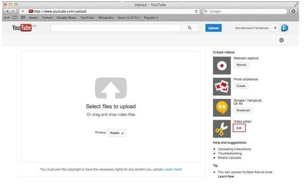 access youtube video editor