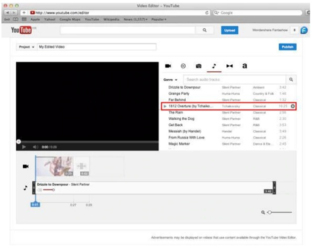 add music to youtube video